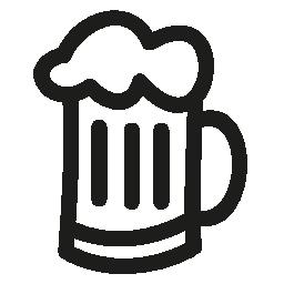 ビール瓶手描き下ろし概要無料アイコン