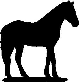 馬ブラック サイド シルエット無料アイコン