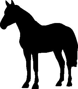 馬立っている黒い図形無料アイコン