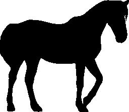 馬の黒いシルエット無料アイコン