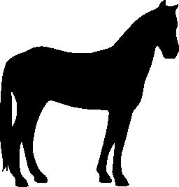 馬の静かな黒いシルエット無料アイコン