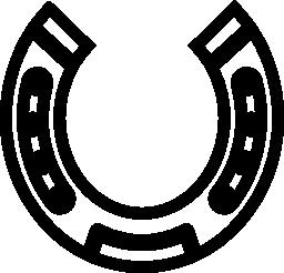 丸みを帯びたホースシュー ツール図形無料アイコン