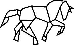 多角形の馬形図形無料アイコン