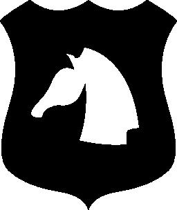 馬の頭のシールド無料アイコン