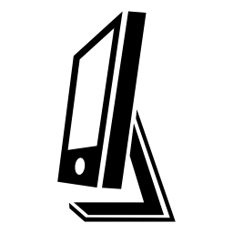 画面フラット サイド ビュー無料アイコン