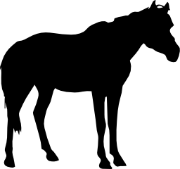 側面ビュー無料アイコンから馬黒い図形