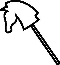 乗る無料アイコンの棒の頭の形の馬グッズ概要