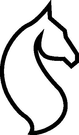 馬の頭部概要無料アイコン