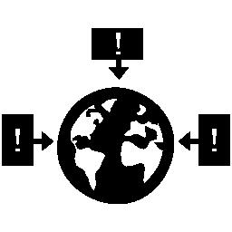 世界データ インタ フェース シンボル無料アイコン