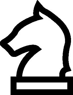 馬ヘッド チェスピース概要無料アイコン