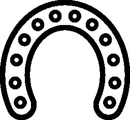 その拡張無料のアイコンをすべてに沿って円孔をもつホースシュー概要