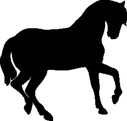 馬黒側図形無料アイコン