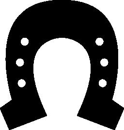 馬蹄形の六つの小さな穴の無料アイコン