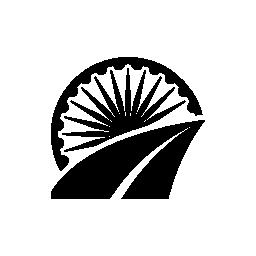 インド経路無料アイコン