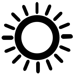 輝く太陽無料アイコン