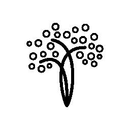 直線と円の無料アイコンのクラフト木