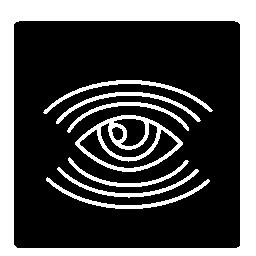 無料正方形の形のアイコン内の行数を監視目シンボル
