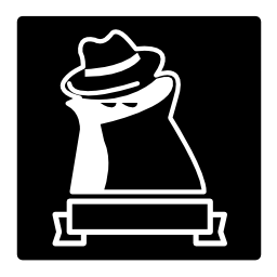 正方形のリボンで覆われた人の有名な強盗シンボル無料アイコン