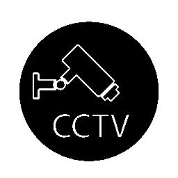 監視ビデオ カメラ、cctv のサインイン円無料アイコン