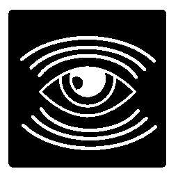 多くのライン、正方形の内部の目監視シンボル無料アイコン