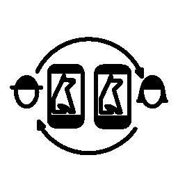 電話でのペット所有者のための監視システム無料アイコン