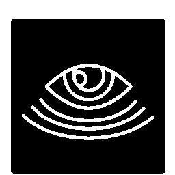 正方形の監視の目シンボル無料アイコン