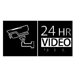 24 時間ビデオ監視システム無料アイコン