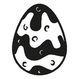 チョコレートのイースター卵無料アイコン