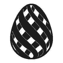 二重対角イースターエッグ ストライプ デザイン無料のアイコン