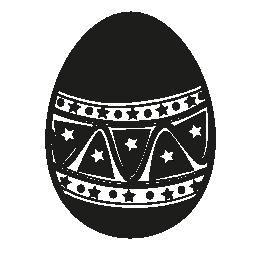 イースターエッグの手で作られた装飾デザイン無料のアイコン