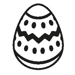 暗い線とドット装飾無料のアイコンとホワイトチョコのイースターエッグ
