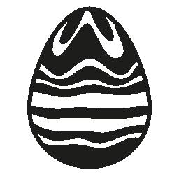 不規則なライン無料アイコンのイースターエッグ デザイン