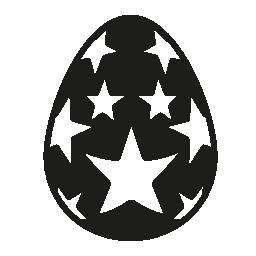 復活祭の卵を受けて無料アイコンで覆われています。