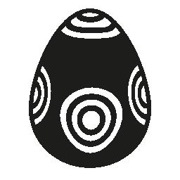 同心円パターン無料アイコンのイースターエッグ デザイン