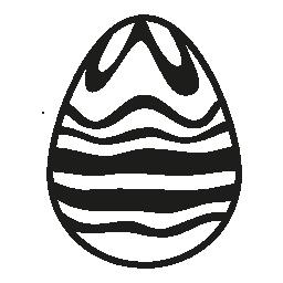 白と黒のチョコレート ライン デザイン無料のアイコンのイースターエッグ