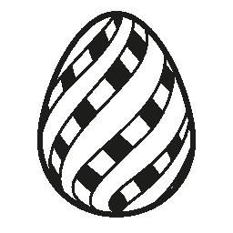 2 つのイースターエッグ ストライプ スタイル装飾無料アイコン