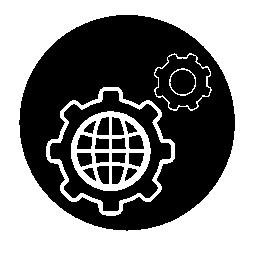 世界設定円形シンボル無料アイコン