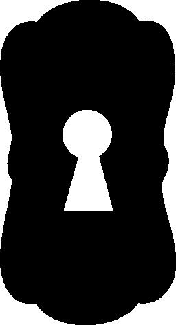 大きな鍵穴黒い図形無料アイコン