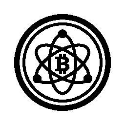 Bitcoin 科学シンボル無料アイコン