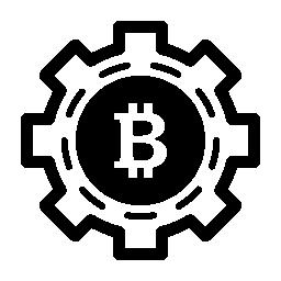 Bitcoin メカニック シンボル無料アイコン