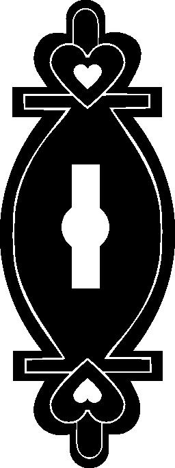 心のデザイン無料のアイコンとキーホール バリアント