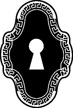 ビンテージ鍵穴デザイン無料のアイコン