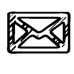 メール スケッチ封筒無料アイコン