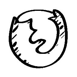 Firefox のスケッチのロゴの無料アイコン