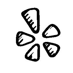 Yelp のスケッチのロゴの無料アイコン
