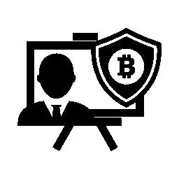 安全シールド無料アイコンの Bitcoin プレゼンテーション