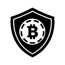 Bitcoin 安全シールド シンボル無料アイコン
