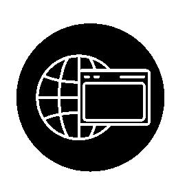 世界のグリッドと円無料アイコン内部ブラウザー ウィンドウ