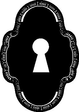 ビンテージのデザイン無料のアイコンの鍵穴