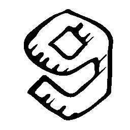 9 gag スケッチのロゴの無料アイコン